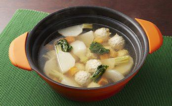 カブとつくねの団子スープ煮