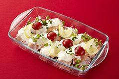 写真: 鮭のクリームソース(冷製)