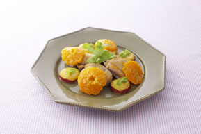 写真: 鶏肉のオレンジソース煮