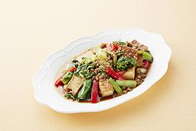 青梗(ちんげん)菜と厚揚げの炒めもの