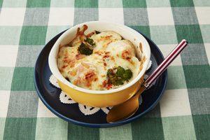 写真: 海老とブロッコリーの豆腐グラタン