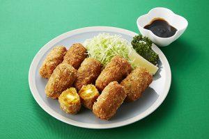 写真: 南瓜(なんきん)のチーズコロッケ